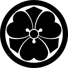 Black and white emblem of Muso Jikiden Eishin Ryu
