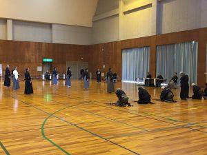 Picture of the Gym with iaidoka for Hamamatsu Iaido Taikai